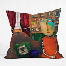 Robin Faye Gates Polyester with Bebe Indoor / Outdoor Throw Pillow