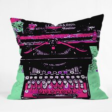 <strong>DENY Designs</strong> Romi Vega Polyester Typewriter Indoor / Outdoor Throw Pillow