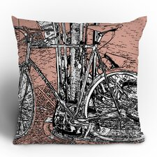 Romi Vega Bike Polyester Throw Pillow