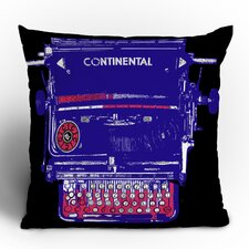 Romi Vega Continental Typewriter Polyester Throw Pillow