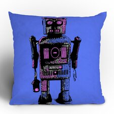 Romi Vega Lantern Robot Polyester Throw Pillow