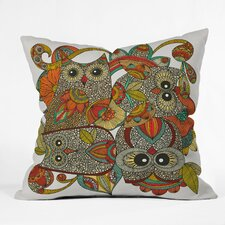 Valentina Ramos 4 Owls Polyester Throw Pillow