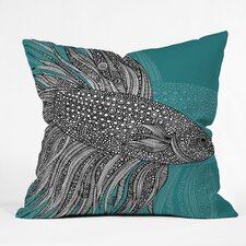 Valentina Ramos Beta Fish Polyester Throw Pillow