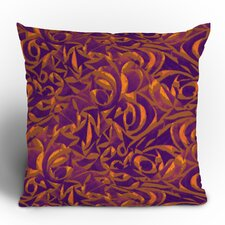Wagner Campelo Abstract Garden Polyester Throw Pillow