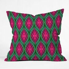Wagner Campelo Ikat Leaves Indoor/Outdoor Polyester Throw Pillow