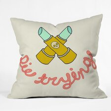Wesley Bird Die Trying Indoor/Outdoor Polyester Throw Pillow