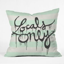 Wesley Bird Locals Only Indoor/Outdoor Polyester Throw Pillow