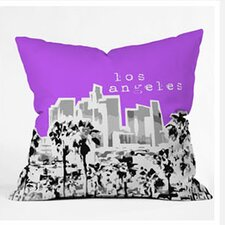 Bird Ave Los Angeles Woven Polyester Throw Pillow