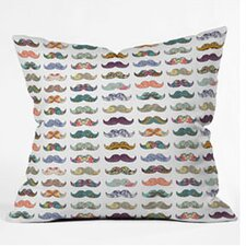 Bianca Mustache Mania Throw Pillow