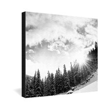 <strong>DENY Designs</strong> Bird Wanna Whistle Mountain Gallery Wrapped Canvas