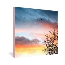 <strong>DENY Designs</strong> Bird Wanna Whistle Bird Line Gallery Wrapped Canvas
