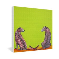<strong>DENY Designs</strong> Clara Nilles Leopard Lovers Gallery Wrapped Canvas