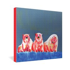 <strong>DENY Designs</strong> Clara Nilles Polarbear Blush Gallery Wrapped Canvas