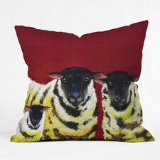 Clara Nilles Lemon Spongecake Sheep Indoor / Outdoor Polyester Throw Pillow