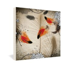 <strong>DENY Designs</strong> Iveta Abolina Feather Dance Gallery Wrapped Canvas