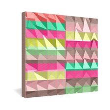 <strong>DENY Designs</strong> Jacqueline Maldonado Pyramid Scheme Gallery Wrapped Canvas