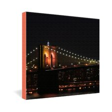 Brooklyn Bridge 2 by Leonidas Oxby Photographic Print on Canvas