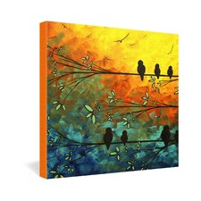 Madart Inc  Birds Of A Feather Gallery Wrapped Canvas