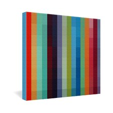 Madart Inc  City Colors Gallery Wrapped Canvas