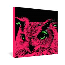 <strong>DENY Designs</strong> Romi Vega Pink Owl Gallery Wrapped Canvas