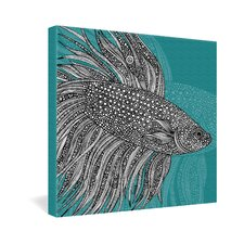 Beta Fish by Valentina Ramos Graphic Art on Canvas