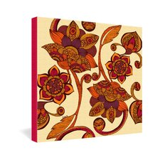 <strong>DENY Designs</strong> Valentina Ramos Boho Flowers Gallery Wrapped Canvas