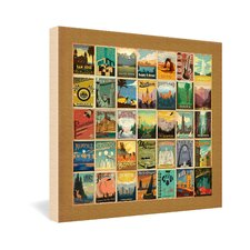 <strong>DENY Designs</strong> Anderson Design Group City Pattern Border Gallery Wrapped Canvas
