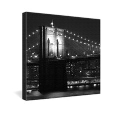 <strong>DENY Designs</strong> Leonidas Oxby Brooklyn Bridge 125 Gallery Wrapped Canvas