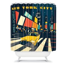 Anderson Design Group Woven Polyester NYC Times Square Shower Curtain