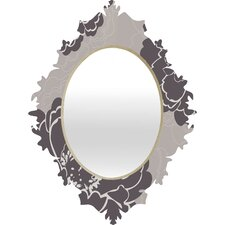<strong>DENY Designs</strong> Caroline Okun Winter Peony Baroque Mirror