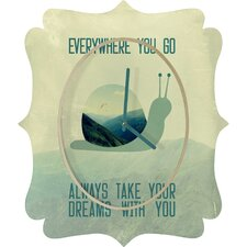 <strong>DENY Designs</strong> Belle 13 Always Take Your Dreams With You Wall Clock