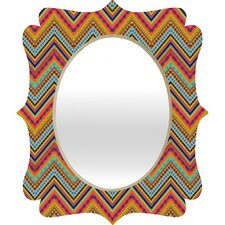 <strong>DENY Designs</strong> Amy Sia Tribal Chevron Quatrefoil Mirror