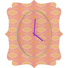 Cori Dantini Orange Ikat 4 Clock