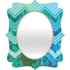 Gabi Azul Quatrefoil Mirror