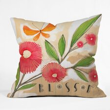 Cori Dantini Blossom 1 Quatrefoil Clock Polyester Throw Pillow