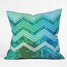 Gabi Azul Polyester Throw Pillow