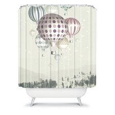 Belle13 Winter Dreamflight Polyester Shower Curtain