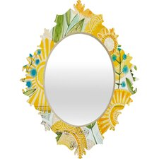 <strong>DENY Designs</strong> Cori Dantini Sun Burst Flowers Baroque Mirror