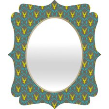 Bianca Green Oh Deer 3 Quatrefoil Mirror