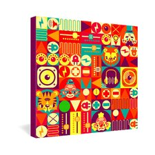 <strong>DENY Designs</strong> Chobopop Elecro Circus Gallery Wrapped Canvas