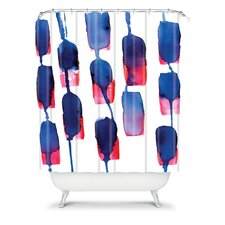 CMYKaren Color Run Polyester Shower Curtain