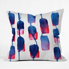 CMYKaren Color Run Polyester Throw Pillow
