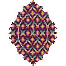 Bianca Green Aztec Diamonds Hammock Wall Clock
