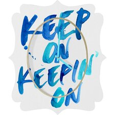 <strong>DENY Designs</strong> CMYKaren Keep on Keepin On Wall Clock