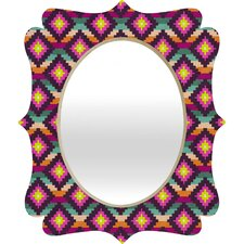 Bianca Green Aztec Diamonds Hammock Quatrefoil Mirror