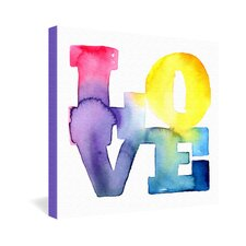 Love 4 by CMYKaren Textual Art on Canvas
