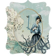 <strong>DENY Designs</strong> Belle 13 Sea Fairy Wall Clock