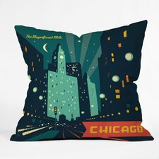 <strong>DENY Designs</strong> Anderson Design Group Chicago Mag Mile Polyester Throw Pillow