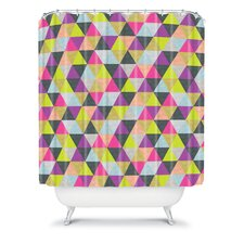 Bianca Woven Polyester Ocean of Pyramid Shower Curtain