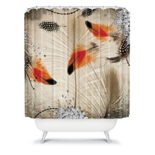 Iveta Abolina Polyester Feather Dance Shower Curtain